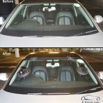 audi fron windscreen replacement before and after