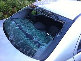 car broken rear windscreen