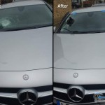 mercedes benz front windscreen replacement before after