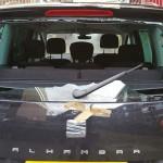 seat alhambra rear windscreen damaged
