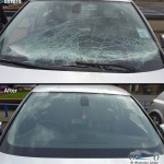 windscreen replacement before and after photo
